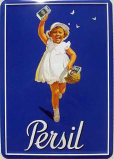 Blechpostkarte Persil Kind - Vorschau