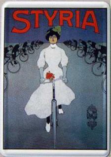 Blechpostkarte Styria Fahrrad - Vorschau