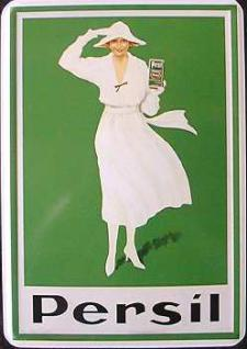 Blechpostkarte Persil
