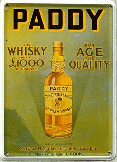 Paddy Whisky Mini Blechschild