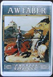 Blechpostkarte Faber Castell