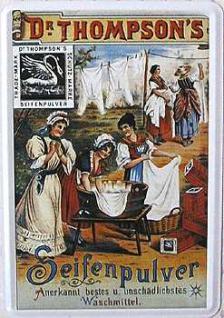 Blechpostkarte Dr. Thompson's Seifenpulver