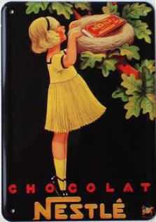 Blechpostkarte Nestle Chocolat