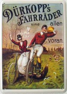 Blechpostkarte Dürkopp's Fahrräder - Vorschau