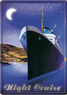 Blechpostkarte Night Cruise - Vorschau