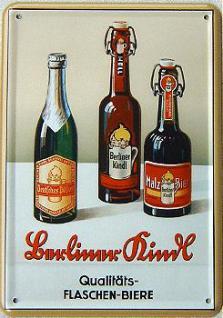 Blechpostkarte Berliner Kindl 3 Flaschen - Vorschau