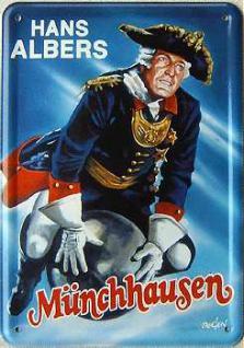 Blechpostkarte Hans Albers Münchhausen - Vorschau