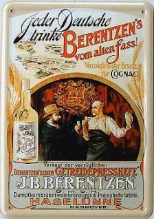 Blechpostkarte Berentzen vom alten Fass - Vorschau