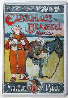 Blechpostkarte Elbschloss-Brauerei