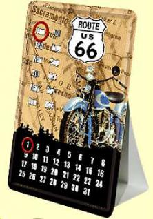 Blechpostkarte Route 66 Kalender