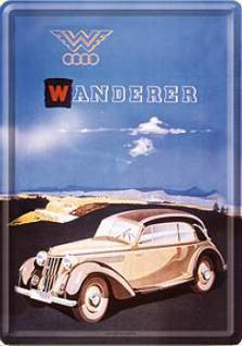 Blechpostkarte Wanderer