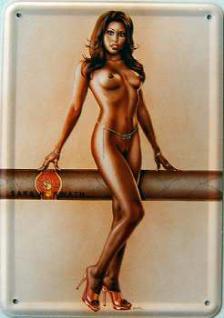 Blechpostkarte Sara Horwath Cigar-Girl - Vorschau