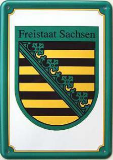 Blechpostkarte Freistaat Sachsen - Vorschau