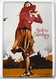 Blechpostkarte Golf in Germany - Vorschau