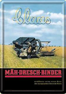 Blechpostkarte Claas Mäh-Dresch-Binder - Vorschau