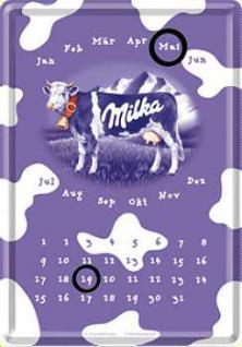 Blechpostkarte Milka Kalender - Vorschau