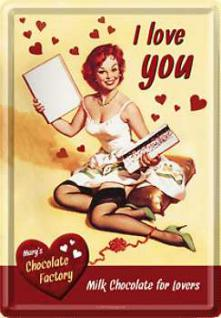 Blechpostkarte I Love Chocolate - Vorschau