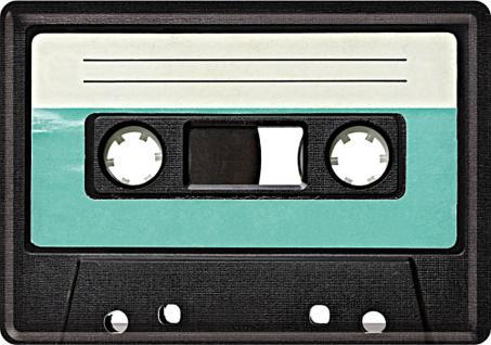 Blechpostkarte Retro Cassette
