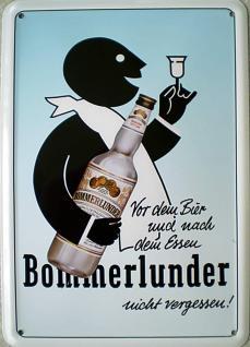 Blechpostkarte Bommerlunder