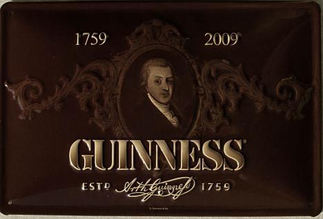Guinness Portrait Blechschild