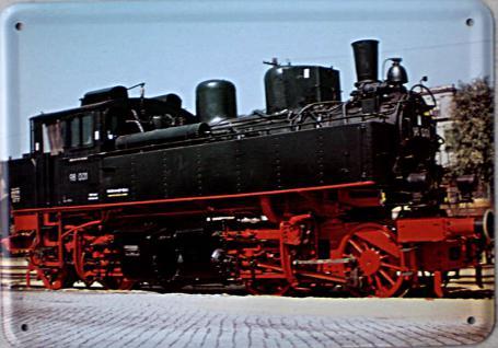 Blechpostkarte Lokomotive 98001