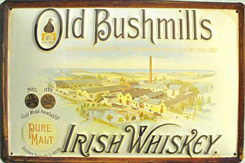 Old Bushmills Irish Whiskey Blechschild