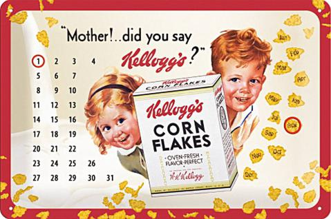 Kellogg's Mother! Kalender Blechschild
