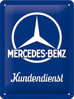 Mercedes-Benz - Kundendienst Blechschild, 15 x 20 cm