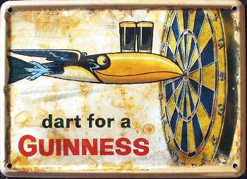 Guinness Dart for a Guinness Mini Blechschild - Vorschau