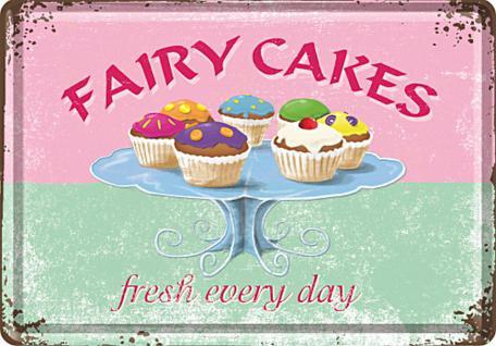 Blechpostkarte Fairy Cakes