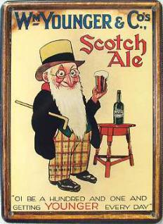 WM Younger & Co's Scotch Ale Mini Blechschild - Vorschau