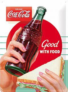 Coca-Cola - Good With Food Blechschild, 30 x 40 cm