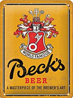 Becks - World Famous Yellow Blechschild
