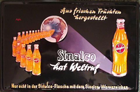 Sinalco Weltruf Blechschild - Vorschau