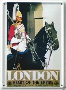 London Heart of the Empire Mini-Blechschild - Vorschau