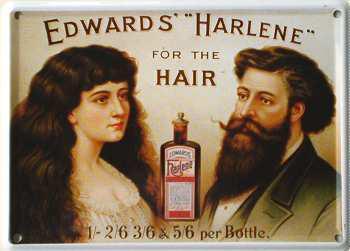 Edwards Harlene Mini-Blechschild - Vorschau