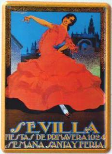Sevilla Mini Blechschild - Vorschau