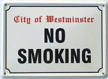No Smoking Mini Blechschild - Vorschau