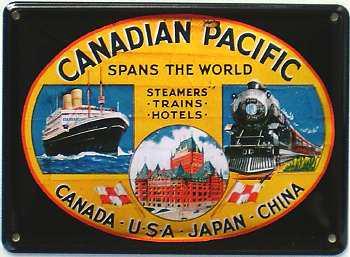 Canadian Pacific Mini Blechschild - Vorschau