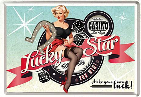 Blechpostkarte Lucky Star