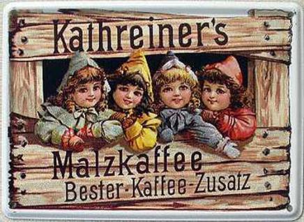Kathreiner's Malzkaffee Mini Blechschild