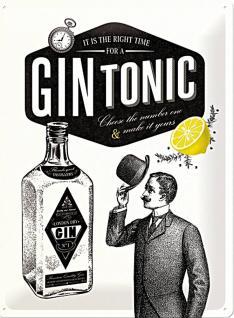 Gin Tonic Blechschild - Vorschau