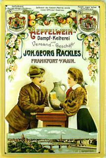 Apfelwein Dampfkelterei Georg Rackles Blechschild