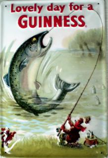 Guinness Lovely Day Fish Blechschild