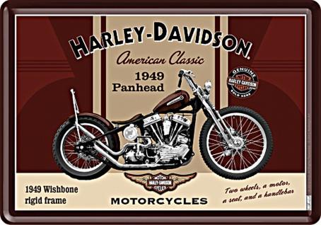 Blechpostkarte Harley-Davidson - Panhead