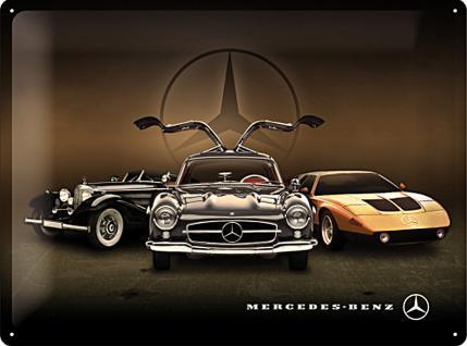 Mercedes-Benz - 3 Cars Blechschild