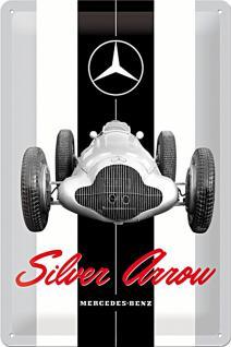 Mercedes-Benz - Silver Arrow Blechschild