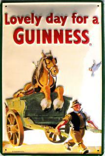 Guinness Lovely Day Pferd Blechschild