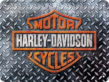 Harley-Davidson - Diamond Plate Blechschild