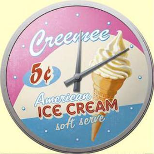 Ice Cream Wanduhr (Echtglas)